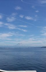 Rainier from the ferry by LipsterLeo