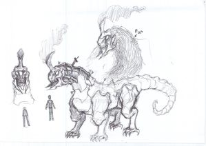 Armored beast concept art by nhok9