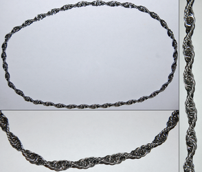 Continuous 4 in 1 Stainless Steel Spiral Necklace by xShojirox