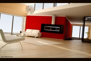 Fireplace Room by gravier25