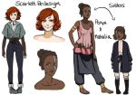 Sagovarld Character Designs by Chloeeh