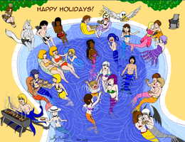 70 Beach Pool Party Gift for CaptainFace n friends by SailorEnergy