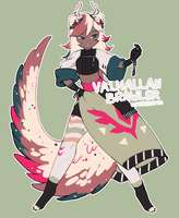 [CLOSED: ORDIVIRN AUCTION] VALHALLAN BRAWLER by WyvernBites