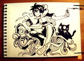 021: The Boy with Black Cat by 365-Hatsu