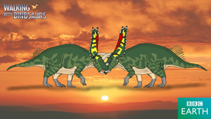 Walking with Dinosaurs: Pentaceratops by TrefRex
