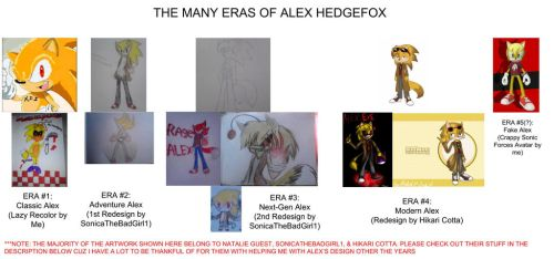The Evolution of Alex Hedgefox over the years by Nintrendodude