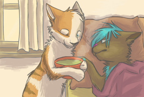I brought you soup by SpitfiresOnIce