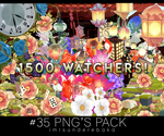 1500 WATCHERS! #35 png's pack by ImTsundereBaka