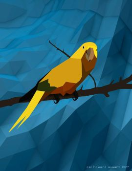 Poly Gon Parrot by AVAdesign