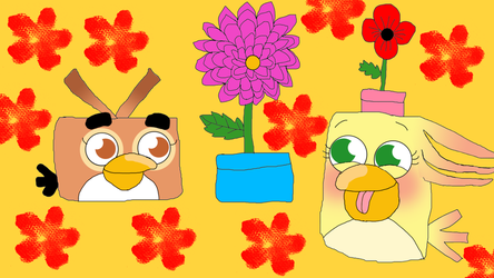 Birds and their flowers by Princess-Sackboy3659