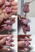 Mew Dangly Bead by ChibiSilverWings