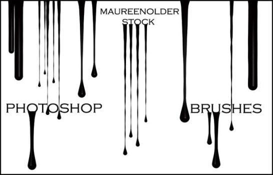 STOCK PHOTOSHOP BRUSHES Drippy by MaureenOlder