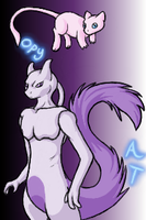 Mew and Mewtwo: Copy Cats by InuMimi