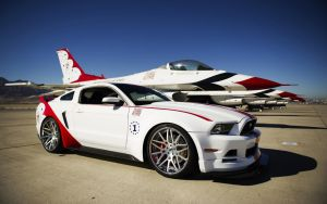 2014 U.S. Air Force Thunderbirds Ford Mustang by ThexRealxBanks