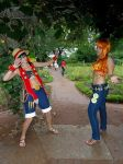 Luffy and Nami by Lucy-chan90