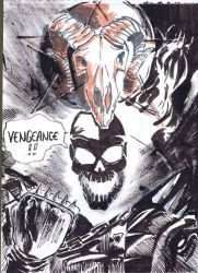Ghost Rider sketch by hakantacal