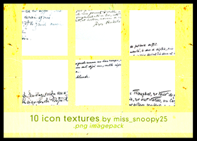 10 icon textures by misssnoopy25