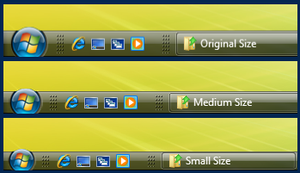 Thin Taskbar Mod - For Vista by UkIntel