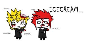 Roxas and Axel as Zombies by EeveePower