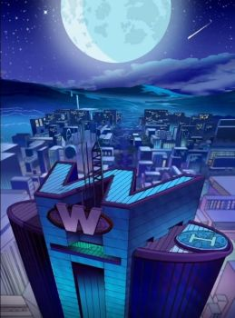 Totally Spies: WOOHP at night by Trefan