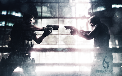 Chris vs Leon wall RE 6 by CodeClaire