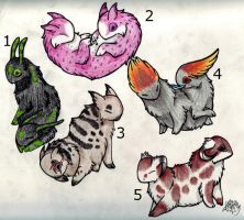 Adoptable Creatures 3~CLOSED by StarDapple