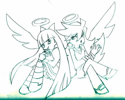 Panty andStocking PREVIEW by ZutaraXWolf