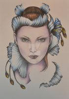 flower faced lady by aliceinsane