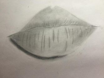Lips - Attempt 1 - Piece Unfinished by vicky271