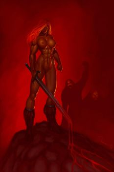 Red Sonja Nude by elee0228