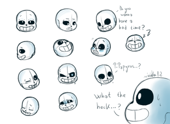 Sans' head sketches by isika12