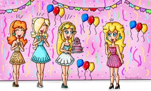 Peach's Birthday by ninpeachlover