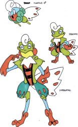 Fakemon- Noble Male Dartfrog by TheZombieHunter