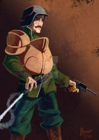 Victorian Man-At-Arms by chrisbeaver