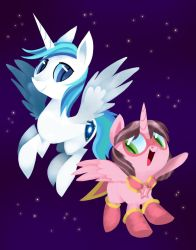 Commission - Astro and Pink by TalonsofIceandFire