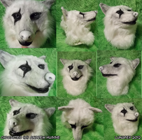Peregrine Mendicant fursuit head by Lunafex