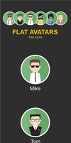 Flat avatars icons by jozef89