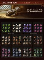 RPG Armor Sets by GraphicAssets