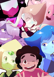 Steven Universe : We are the Crystal Gems! by shallowdeepcreation