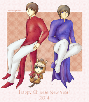 Happy Chinese New Year 2014 by Ruby-Heart