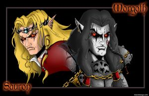 Morgoth and Sauron by whittingtonrhett