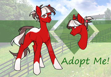 [OPEN] Strawberry Pony Adopt by InkyNotebook