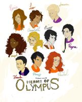 Our Heroes of Olympus by CertifiedJesusFreak