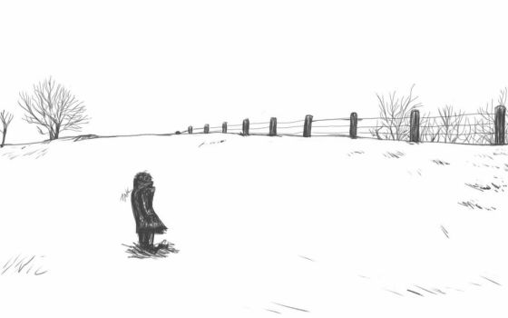 Daily Sketch: Alone by Hunchy