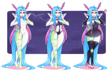 July Guest adopt Bamharr: SPACE QUEEN CLOSED by Lunathyst