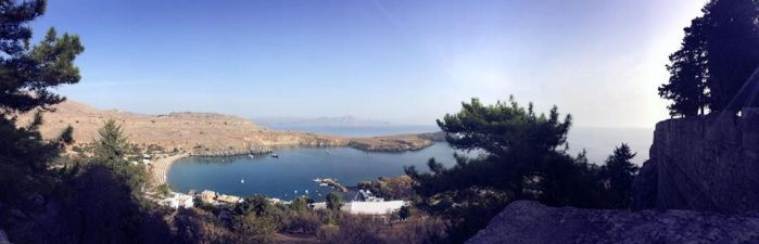 Lindos Bay by DistortedSmile