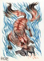the fox and the rabbit by Kagoe