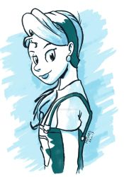 Girl in blue by ThePandamis