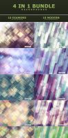 4 in 1 Bundle Backgrounds by ViktorGjokaj