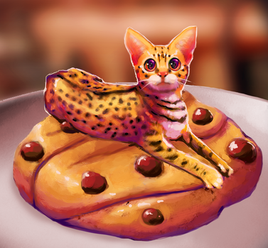 Chocolate-Chip Cat by CharcoalCharcaz